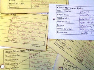 Good old object movement tickets. They still work when the servers don't. (C) UCL Grant Museum