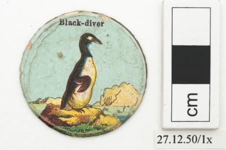 Black-diver playing card (Horniman Museum & Gardens)