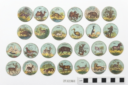 Victorian playing cards featuring exotic species (Horniman Museum & Gardens)