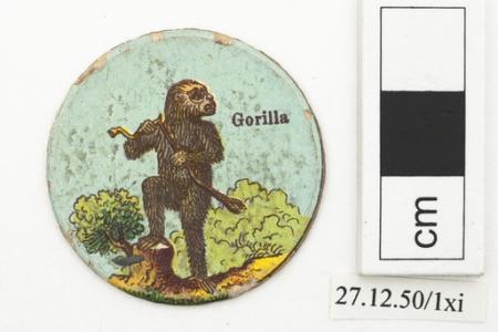 Gorilla playing card (Horniman Museum & Gardens)