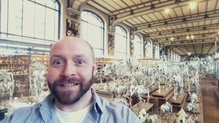 Paolo at the Museum of Comparative Anatomy, Paris