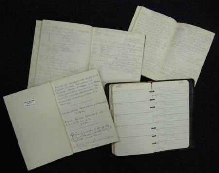 A selection of egg collectors' notebooks and diaries