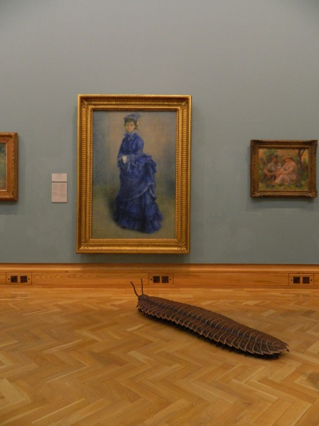 Arthur the Arthropleura visits the impressionists (Image source: http://www.museumwales.ac.uk/blog/2014-11-11/The-Adventures-of-Arthur-the-Arthropleura-/)