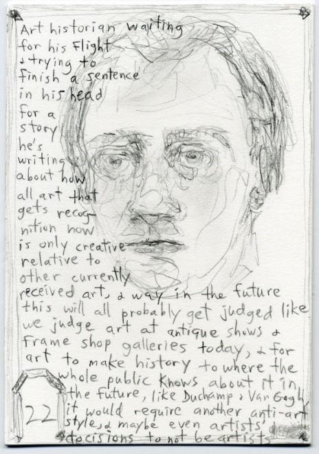 Jeff Gabel's work 'Art Historian Waiting...'